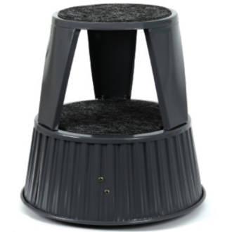 Fluteline Roll Step - Model: RSG; Grey with Grey carpet