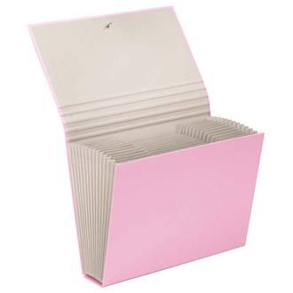 FM A4 File Expanding Pastel Pink 13 Pocket