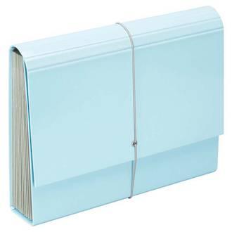FM A4 File Expanding Pastel Blue13 Pocket