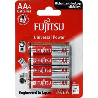 Fujitsu Batteries AA Universal Alkaline 4 Pack