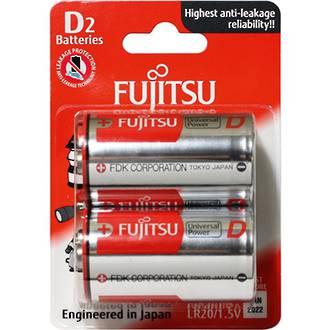 Fujitsu Batteries D Universal Alkaline 2 Pack