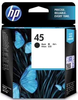 HP 45 (51645AA) Black Ink Cartridge * SPECIAL *