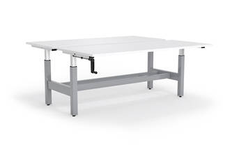 Cubit Highrise 1500 Shared Desk 660 - 1060mm Complete * CLEARANCE *