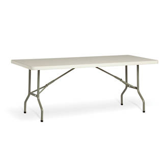 Life Folding Rectangle Table 1.8m - 1 Piece Solid Top