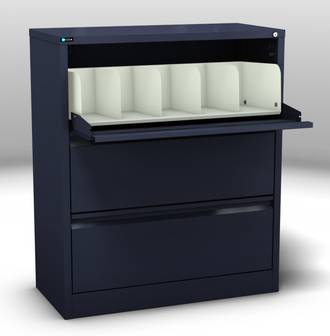 Maxim Coded File Cabinet 3 Cavity