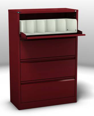 Maxim Coded File Cabinet 4 Cavity