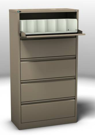 Maxim Coded File Cabinet 5 Cavity