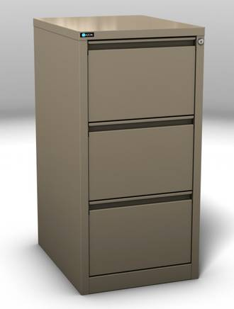 Maxim Ultra Glide 3 Drawer Vertical File Cabinet