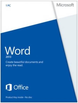Microsoft Word 2013 Single License