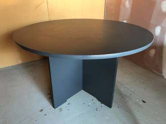 Meeting Table 1200mm diameter Dark Grey - Second-hand
