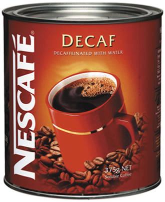 Nescafe Decaf Instant Coffee Tin 375g