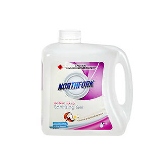 Northfork Hand Sanitising Gel (Alcohol based) Coconut & Vanilla 2L Due August