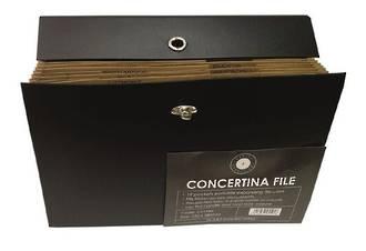 OSC Concertina File 19 Pocket Black