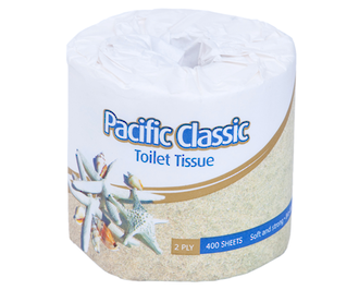 Pacific Classic Toilet Roll 2 Ply C2-400 Ctn48