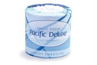 Pacific Deluxe Toilet Roll 2 Ply D2-400 Each
