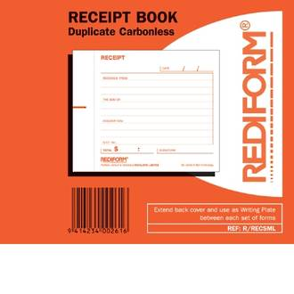 Rediform Book R/RECSM Receipt Small