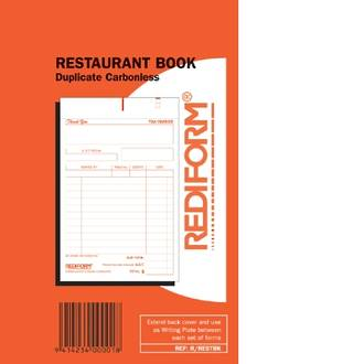Rediform Book R/RESTBK Restaurant