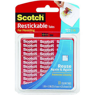 Scotch R100 Restickable Tabs