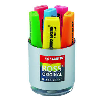 Stabilo Boss Highlighter Cup of 6