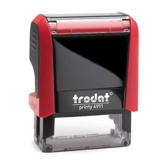 Trodat Printy 4911 Size: 38 x 14mm with Red Body & Ink