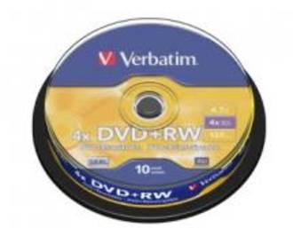 Verbatim DVD+RW 4.7GB 10Pk Spindle