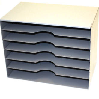 Winmac Stationery Cabinet 6 Shelf Grey
