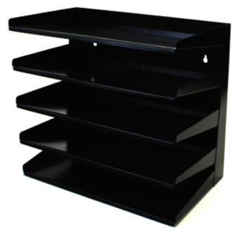 Winmac 5 Tier Letter Tray Slope Grey or Black