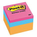 3M Post-it® Notes Cube, 48x48mm Orange Wave, 2 Cubes/Pack