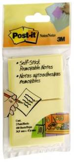 3M Post-It Notes 653 Yellow x2