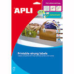 Apli 11945 Strung Tickets 22x35mm Printable Shts Pk10