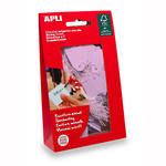 Apli 12929 Strung Tickets 22x35mm Pink 100bag