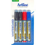 Artline 577 Whiteboard Marker 2mm Bullet Nib Hangsell 4 Pce Assorted