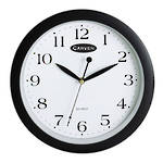 Carven Wall Clock 25cm Black