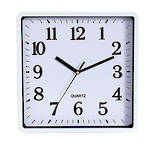Carven Clock Square 25cm White