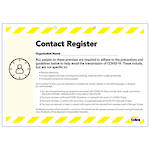 Collins Contact Register Pad COVID-19