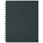 Collins A4 Wiro Spiral Notebook Black 100 leaf