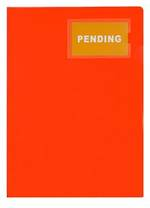 FM L Shaped Pocket A4 Orange with Card Holder Pk 3
