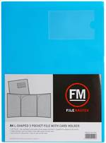 FM L Shaped 3 Pocket A4 Ice Blue with Card Holder