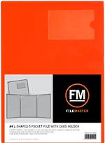 FM L Shaped 3 Pocket A4 Burnt Orange with Card Holder