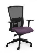 CS Domino Black Seat, Nylon Base, Arms