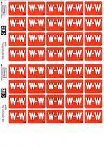 C Ezi Alphabetic Labels W