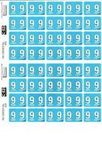 C Ezi Numeric Labels 9