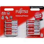 Fujitsu Batteries AA Universal Alkaline 8 Pack