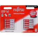 Fujitsu Batteries AAA Universal Alkaline 8 Pack