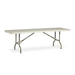 Life Folding Rectangle Table 2.4m - 2 Piece Folding Top