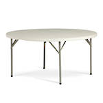 Life Folding Round Table 1.8m - 1 Piece Solid Top