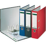 Leitz Lever Arch File 180 Deg A4 & F/cap 80mm - 4 Colours