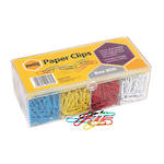 Marbig® Paper Clips 33mm Vinyl Coated 800 Coloured