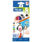 Milan Coloured Pencils Triangular Pack 12 Assorted Colours