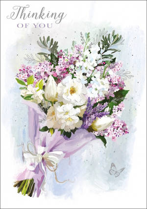 Sympathy Card Thinking of You Bouquet